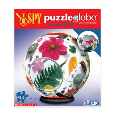 Briarpatch 60-Piece I Spy Puzzleglobe Natural World 3D Sphere Puzzle