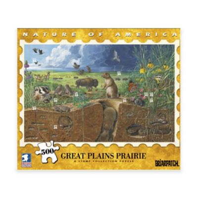 Briarpatch® USPS Nature America 500-Piece Great Plains Prairie Stamp Collection Puzzle