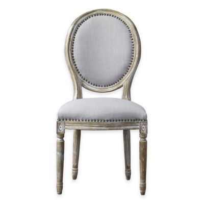 Baxton Studio Clairette Traditional Oval French Accent Chair in Beige