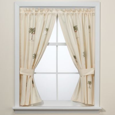 Buy croscill bathroom window curtains from bed bath beyond for Bathroom window curtains