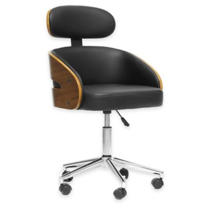 Baxton Studio Kneppe Modern Office Chair in Black