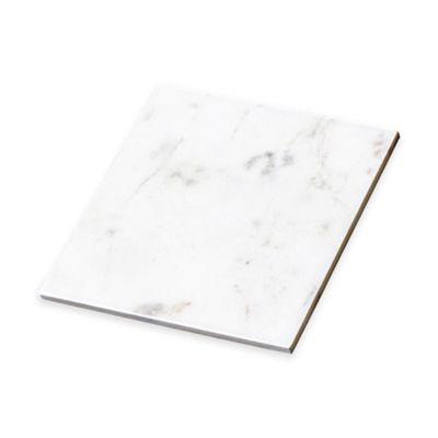 Taj Marble Square Trivet in White