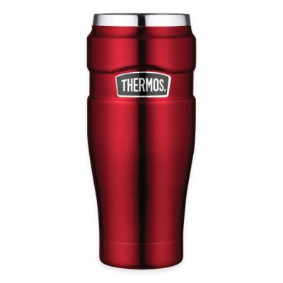 Thermos® 16 oz. Vacuum Insulated Stainless Steel Travel Tumbler in Cranberry