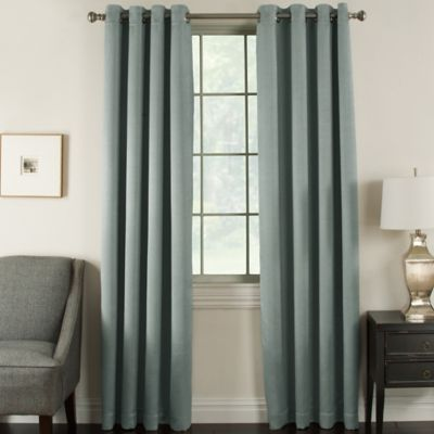 Brinkley 63-Inch Grommet Top Room Darkening Window Curtain Panel in Black