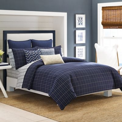 Nautica® Brindley Full/Queen Comforter Set in Navy