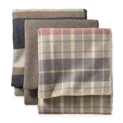 Pendleton® Eco-Wise Wool Twin Washable Blanket in Navy