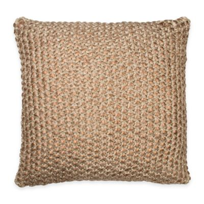 DKNY Loft Stripe Metallic Square Throw Pillow in Copper