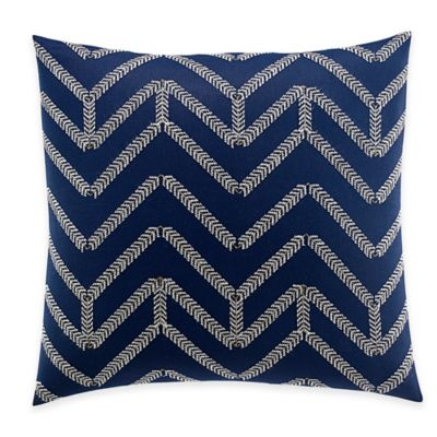 Nautica® Brindley Chevron Embroidered Square Throw Pillow in Navy