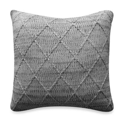 Bridge Street Tailor Knit Square Throw Pillow