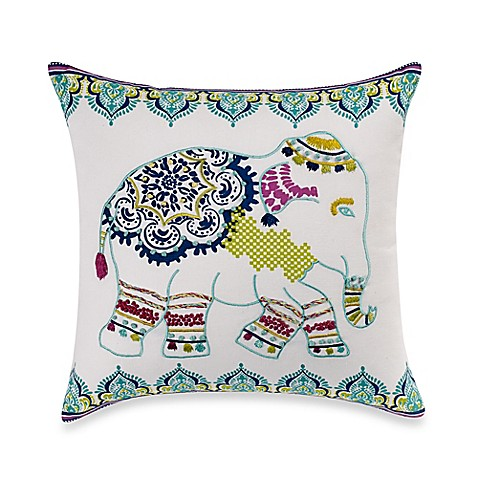 Elephant Throw Pillow Bed Bath And Beyond : Buy Anthology Willa Elephant Square Throw Pillow from Bed Bath & Beyond