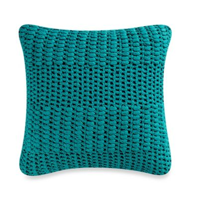 Anthology® Willa Crochet Square Throw Pillow in Lapis