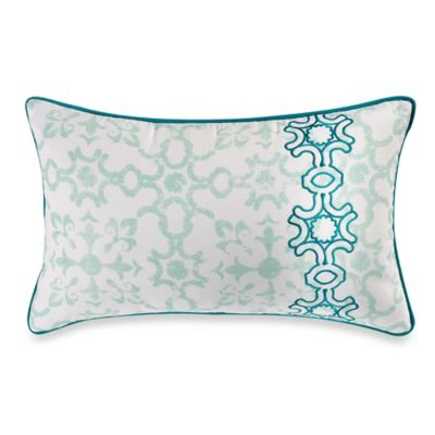 Anthology® Willa Oblong Throw Pillow in Aqua