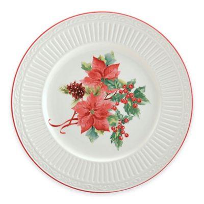 Mikasa® Italian Countryside Poinsettia Holiday Accent Plate