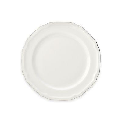White Platinum Salad Plate