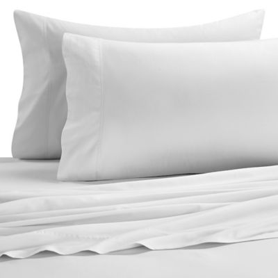 Brushed Twill Twin Sheet Set in White