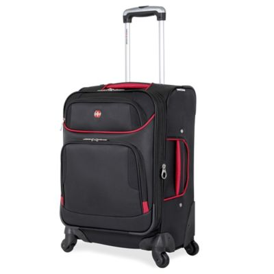 SWISSGEAR® 7317 Collection 20-Inch Carry On 4-Wheel Spinner in Black/Red