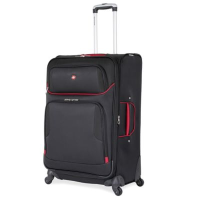 Wenger SwissGear 7317 Collection 28-Inch 4-Wheel Spinner in Black/Red