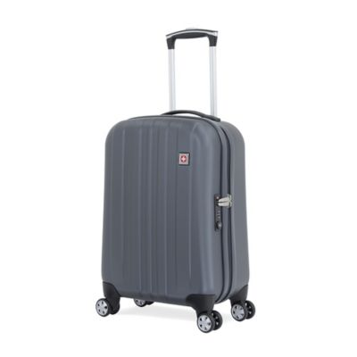 Wenger SwissGear 6151 Collection 20-Inch 8-Wheel Hardside Carry On Spinner in Grey