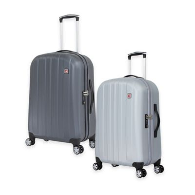 SWISSGEAR® 24-Inch Rolling Upright Hardside Spinner in Silver