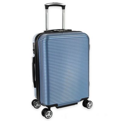 Kenneth Cole New York Sudden Impact 20-Inch 8-Wheel Expandable Carry On Spinner in Ice Blue