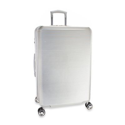 Kenneth Cole New York Sudden Impact 28-Inch 8-Wheel Expandable Spinner in Silver