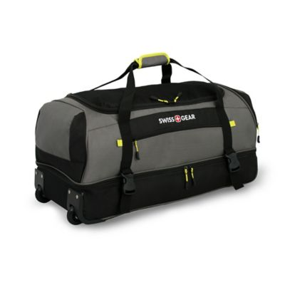 Wenger SwissGear Sierra II 30-Inch Rolling Drop Bottom Duffle in Grey/Black