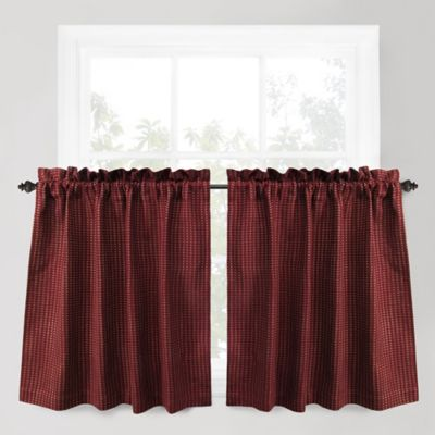 Park B. Smith Cortina 24-Inch Window Curtain Tier Pair in Redwood