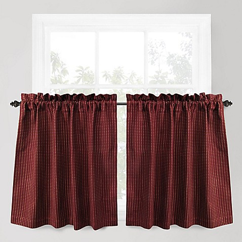 Buy Park B Smith Cortina 36 Inch Window Curtain Tier Pair In Redwood From Bed Bath Beyond