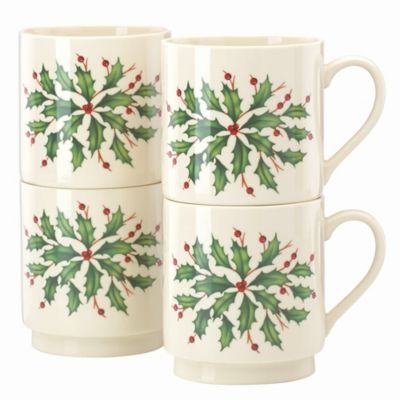 Lenox® Holiday™ Stackable Mugs (Set of 4)