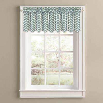 Samantha 14-Inch Window Valance in Aqua