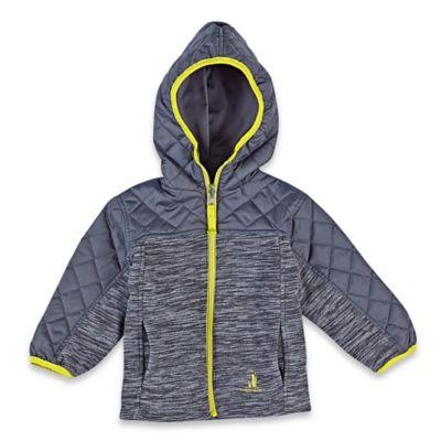 Rugged Bear Size 18M Reversible Fleece Midweight Jacket in Grey