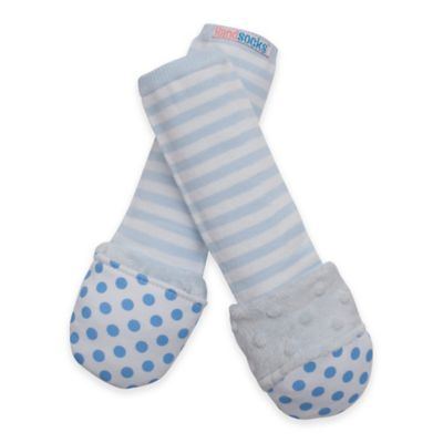 Handsocks™ Extra-Small Polyester Outer Fling-Proof Children's Mitten in Blue/White
