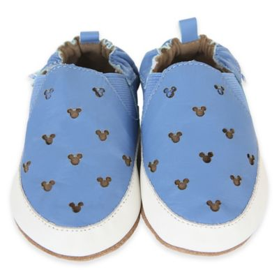 Disney® by Robeez® Soft Soles™ Size 0-6M Mickey Mouse Cut-Out Sneaker in Blue