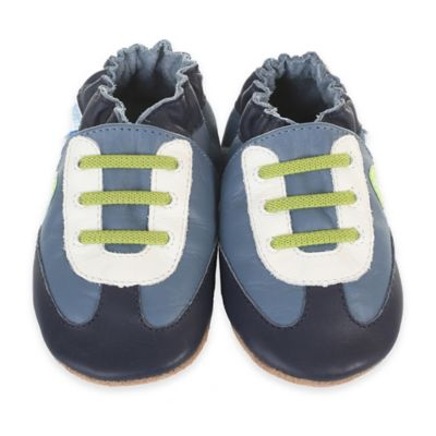 Robeez® Soft Soles™ Size 18-24M All-Star Rodney Crib Shoe in Blue