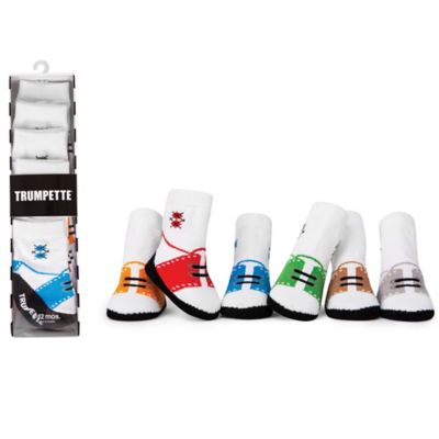 Trumpette Size 0-12M 6-Pack Archie Golf Brite Low-Top Oxford Socks