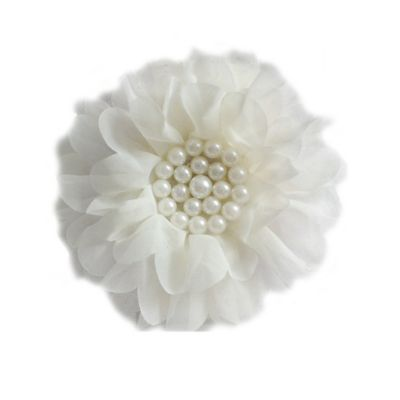 Curls & Pearls Pearl Flower Headwrap in Ivory