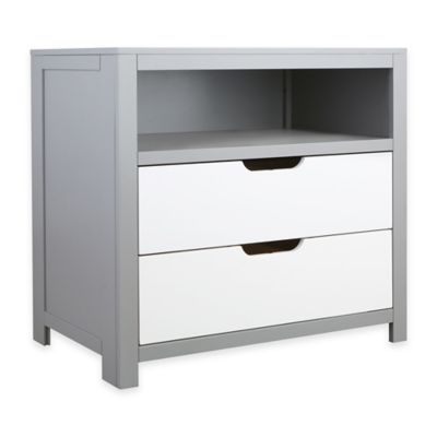 Karla Dubois® Oslo 2-Drawer Wood Cubby Dresser in Grey/White
