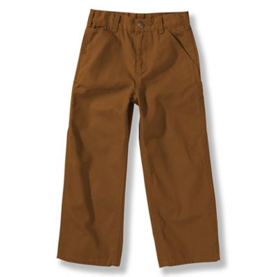 Carhartt® Size 12M Washed Duck Dungaree Pant in Brown