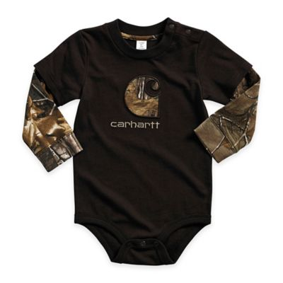 Carhartt® Size 3M Realtree Xtra® Long-Sleeve Layered Bodyshirt in Brown