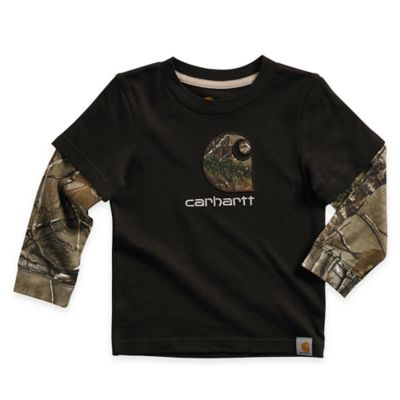 Carhartt® Size 2T Realtree Xtra® Layered Long-Sleeve Shirt in Camo/Black