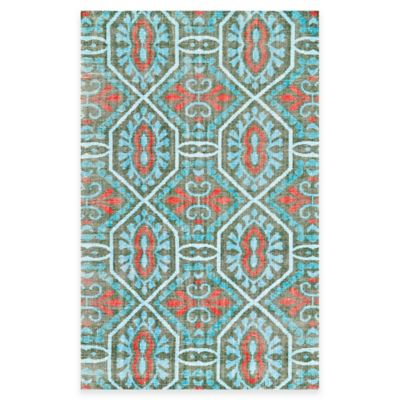 Tracy Porter® Poetic Wanderlust® Rumi 2-Foot x 3-Foot Accent Rug in Paprika/Aqua