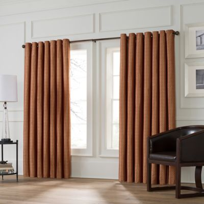 Valeron Stradivari 95-Inch Room Darkening Window Curtain Panel in Rust