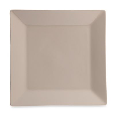 Real Simple® Square Dinner Plate in Taupe