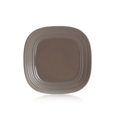 Brown Square Salad Plate