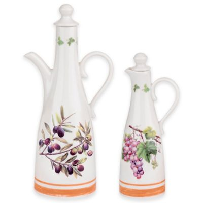 White Oil and Vinegar Set