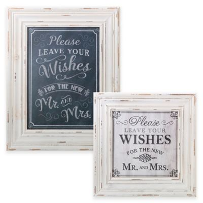 Lillian Rose™ Wishes Framed Wall Plaque in Black