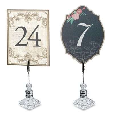 Lillian Rose™ Double-Sided Table Number Set in Black/Pink