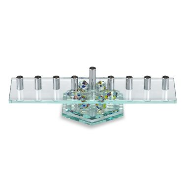 Glass Dreidel Menorah