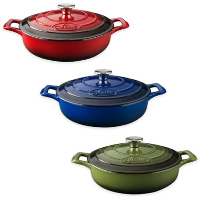 La Cuisine PRO Sauté 3.75 qt. Cast Iron Casserole in Red