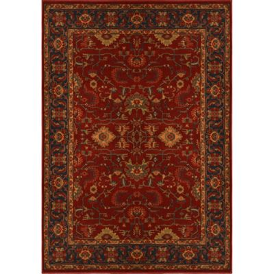 Antiqua Heat Set 5-Foot 3-Inch x 7-Foot 2-Inch Area Rug in Red